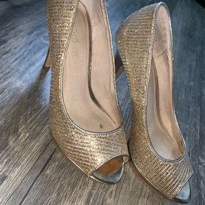 Sparkly Gold Aldo Heels